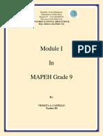 Module 1_mapeh 9_ 2019