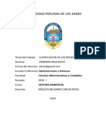 CLASIFICACION RESIDUOS