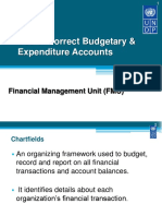 2. Use of Correct Budgetary and Expenditure Accounts
