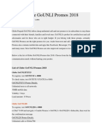 List of Globe GoUNLI Promos 2018