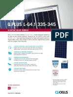 Hanwha q Cells Qplus L-g4.1 345