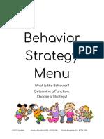 behavior strategy menu