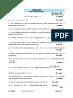 Class X Math