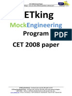 CET king 2008 papers for CET Entrence Exam