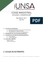 Presentación CICLOS BIOGEOQUÍMICOS