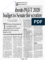 Business Mirror, Oct. 2, 2019, House submits P4.1-T 2020 budget to Senate for scrutiny.pdf