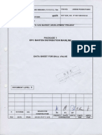Data Sheet for Ball Valve