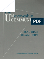 Blanchot, Maurice - Unavowable Community (Station Hill, 1988)