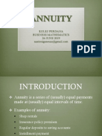 Topic 4 Annuity