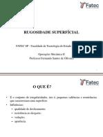 Opmec II - Rugosidade Superfícial
