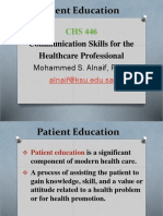 Patient Education 0-1