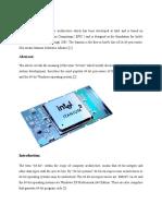 Intel Ia-64 Isa Processor