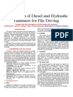 260552214 Comparison of Diesel and Hydraulics Hammer PDF