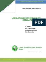 Legislation Seed Quality
