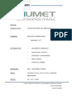 Informe Final de Investigacion de Mercados a La Empresa MANUFACTURAS AMERICANAS S.a. 2