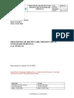 Pp Ru 01 Procedura de Recrutare Promovare Si Integrare Personal01022018secured