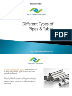 Different Types of Pipes and Tubes