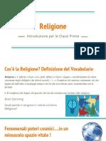 Presentazione programma Religione