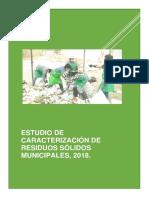 Estudio de Caracterización de Residuos Sólidos 2018 - Pacora