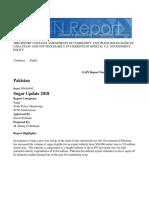 USDA sugar report
