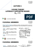 Lec 6 Flexure Theory_laterally Supported Beams