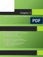 Chapter 3- Users of Accounting Information