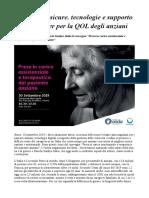 Terapie Più Sicure, Tecnologie e Supporto Ai Caregiver Per La QOL Degli Anziani