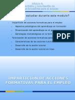 Módulo 3. Impartición de Acciones Formativas Para El Empleo. a) Aspectos Psicológicos Del Aprendizaje en Formación