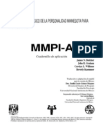 Cuadernillo MMPI A