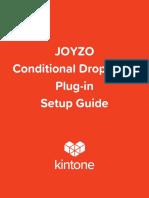 JOYZO Conditional Dropdown Plug in Setup Guide