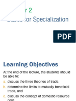 AECO 123 Chapter 2 - Bases for Specialization - Part I