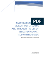Chemistry Research Paper about gathering the concentration of ethanoic acid