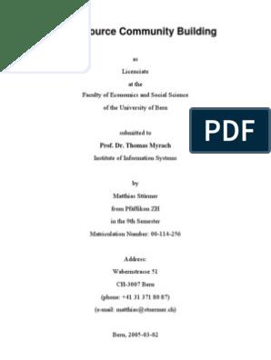 Open Source Community Building | Case Study | Scientific Method