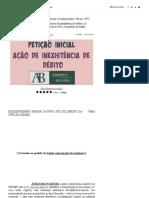 Petição Inicial Cível Novo CPC Danos Morais Tutela Antecipada _ Modelo