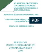 Resultados Ecaes Contaduria 2008