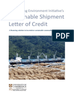 The Banking Environment Initiative Sustainable Shipment Letter of Credit -1