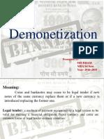 ppt on Demonentization