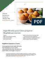 Cómo preparar Magdalenas caseras. Receta paso a paso.pdf
