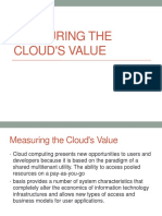 Measuring the Clouds Value