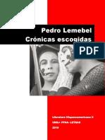 Pedro Lemebel- Cronicas Escogidas 2019