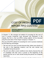 Cost of Production Report Fifo
