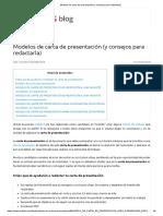 Modelos de Carta de Presentación (y Consejos Para Redactarla)