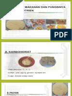 zat makanan dan fungsi