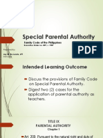 2. Family Code Special Parental Authority