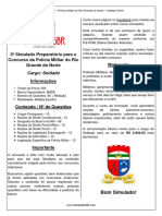 3º Simulado - PMRN (Soldado)