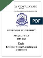 Chemistry Project Amrita Vidyalayam