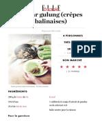 Dadar Gulung Crêpes Balinaises Sans Gluten