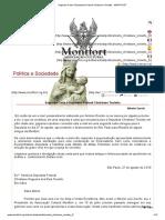 Segunda Carta à Deputada Federal Christiane Tonietto - Associação Cultural Montfort