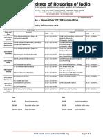 Timetable November 2019 Examination