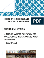 Kinds of Periodicals and Types of Newspaper